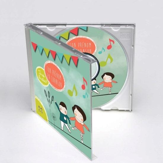 """CD personnalisé """" Ma musique pour moi """" idée cadeau de naissance personnalisé"""