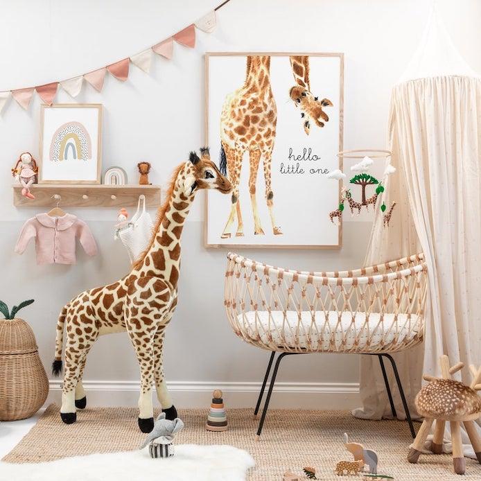 Chambre bébéb fille jungle girly et romantique