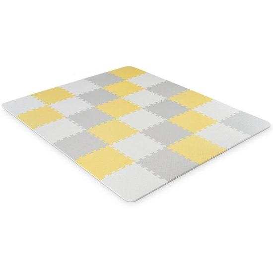 Puzzle LUNO est le tapis de jeu parfait pour éviter les chutes de bébé