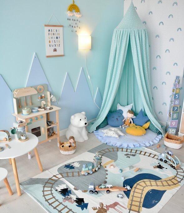 Chambre bébé montagne style scandinave