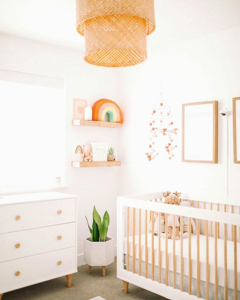 Inspiration chambre bébé naturelle esprit bohème
