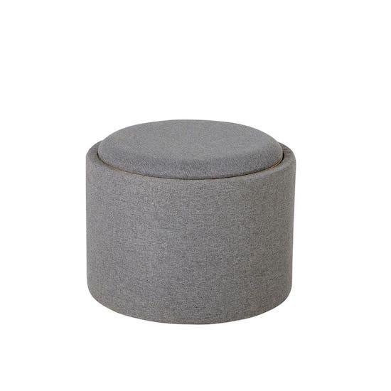 Tabouret gris avec plateau Maisons du Monde