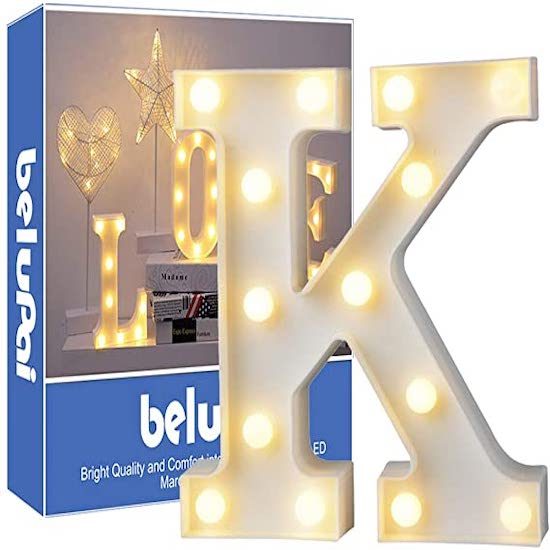 Lettre lumineuse parfaite pour faire une jolie décoration avec le prénom de ton enfant