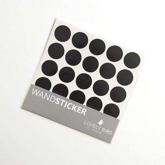 Stickers point noir pour décorer mur chambre d'enfant | Créatrice ETSY : LovelyBirdBerlin
