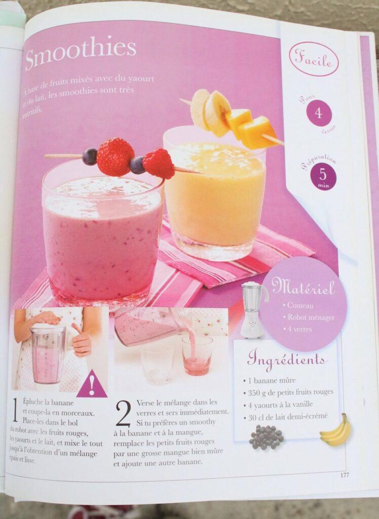 Préparation de cocktails sans alcool le smoothie