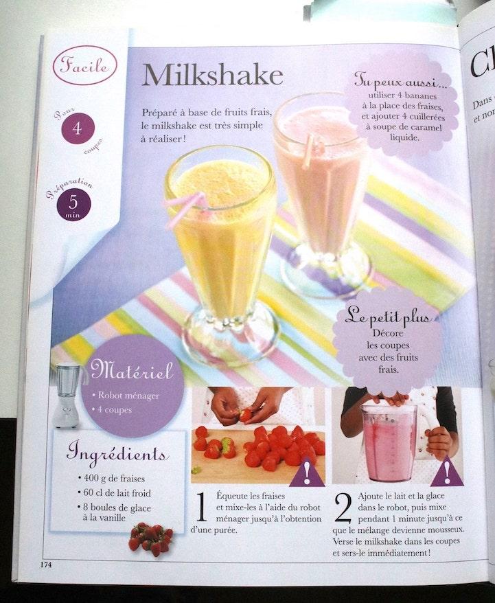 Recette du milkshake spécial cocktails sans alcool
