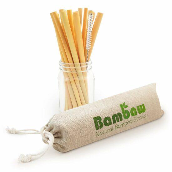 Paille en bambou à mettre sur les cocktails sans alcool