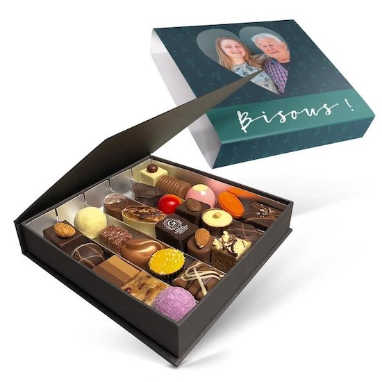 Coffret personnalisé Chocolats de luxe à offrir pour la fête des mères