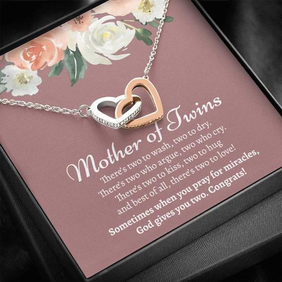 Collier pour maman de jumeaux - Créatrice ETSY : CatalinaArtStudio