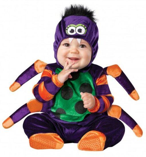 Costume Halloween bebe araignée