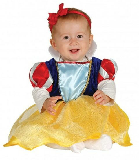 Costume Halloween bebe princesse Blanche-neige