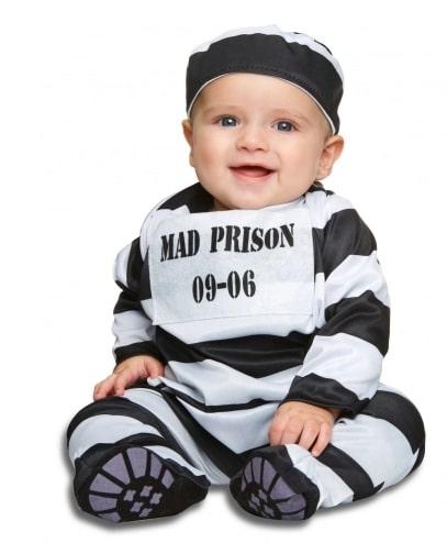Déguisement prisonnier rayé bébé