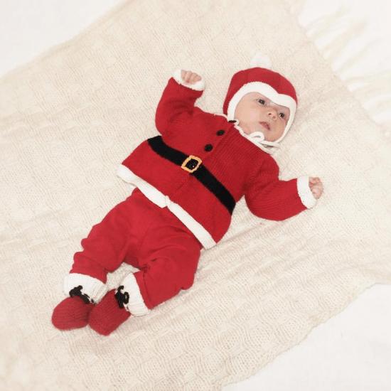 Costume Père Noel comme cadeau de Noël pour bébé