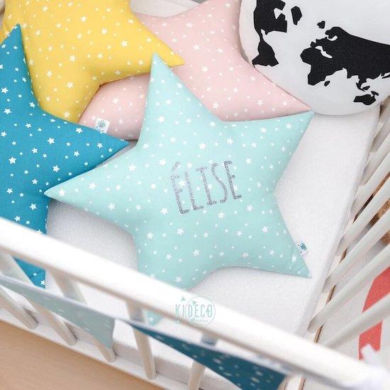 Coussin étoile personnalisable - Créatrice ETSY : KidecoCreations