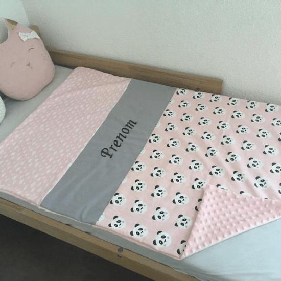 Couverture bébé panda à personnaliser - Créatrice ETSY : creaZoya