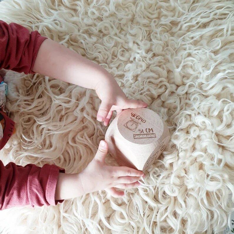 Cube géant de naissance personnalisé en bois - Créatrice ETSY : Lachouettemauve