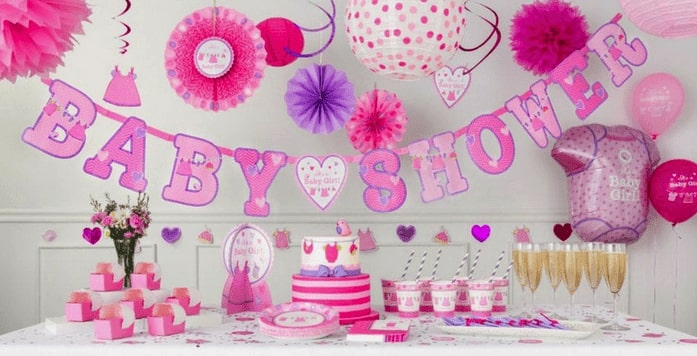 Candy bar organisée pour une baby shower