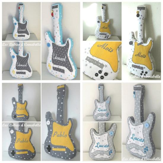 Doudou guitare – LesLubiesdAnnabelle