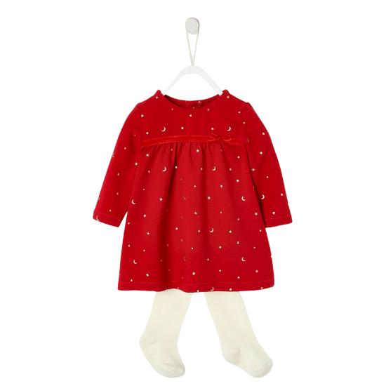 Ensemble de Noël bébé fille robe Vertbaudet