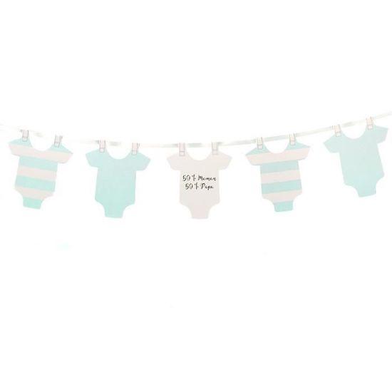 Guirlande pour Baby Shower ou Baptême Body Bleus
