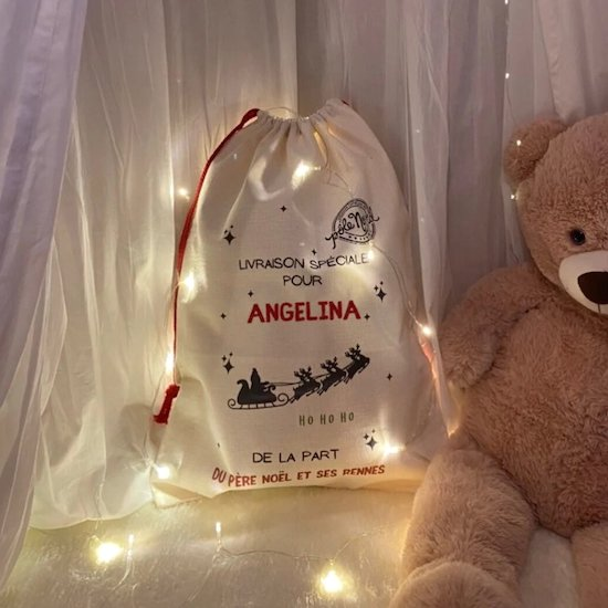 Hotte premier Noël bébé - Créatrice ETSY : Unbrindedecoetsy