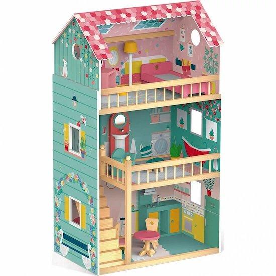 Maison de poupée en bois de la boutique de la marque Les Amis Monstres