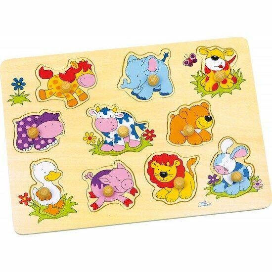 Puzzle en bois thème ferme des jouets en bois Petits Chats