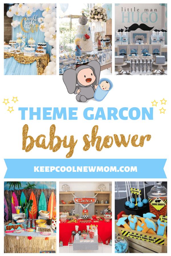 25 idées de thèmes pour une baby shower garcon - Un article à découvrir sur le blog : keepcoolnewmom.com