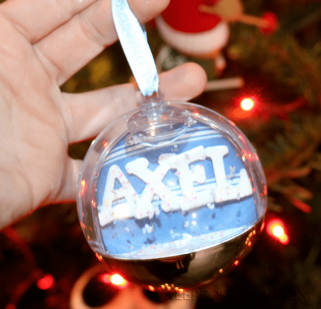 DIY boule de Noël annonce grossesse