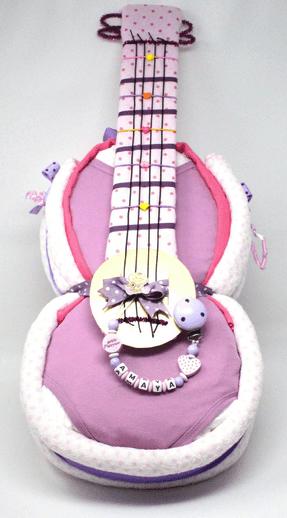 Gâteau de couches guitare