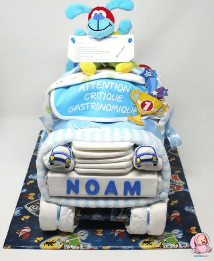 Gâteau de couches voiture