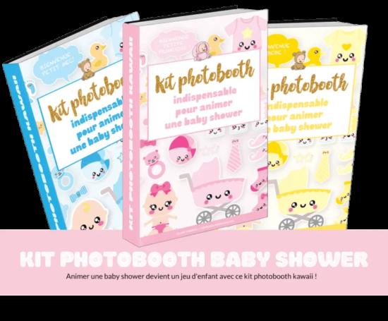Kit photobooth baby shower kawaii