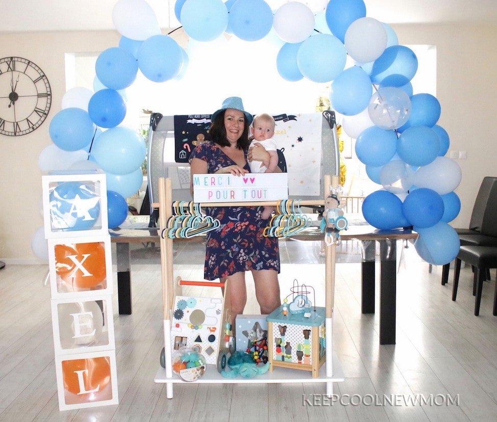 Photo de remerciement des invités pour avoir participé à ma baby shower