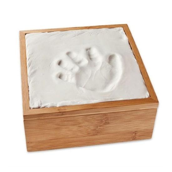 Boîte bambou pour empreintes de bébé Nature et découvertes