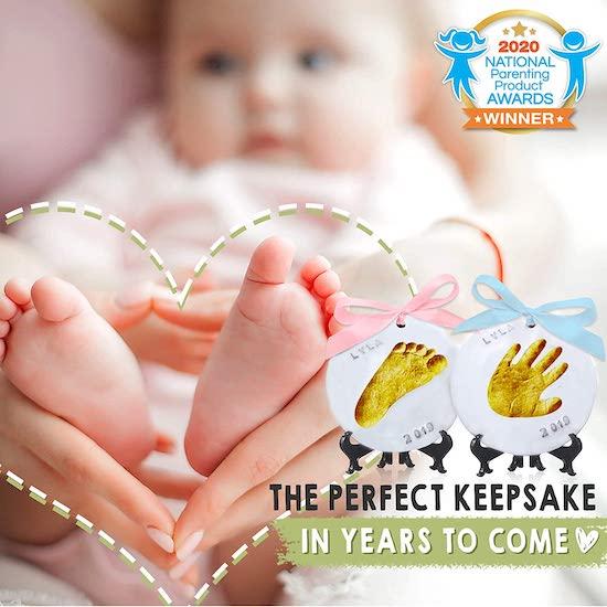Ornement empreinte de main pour bébé
