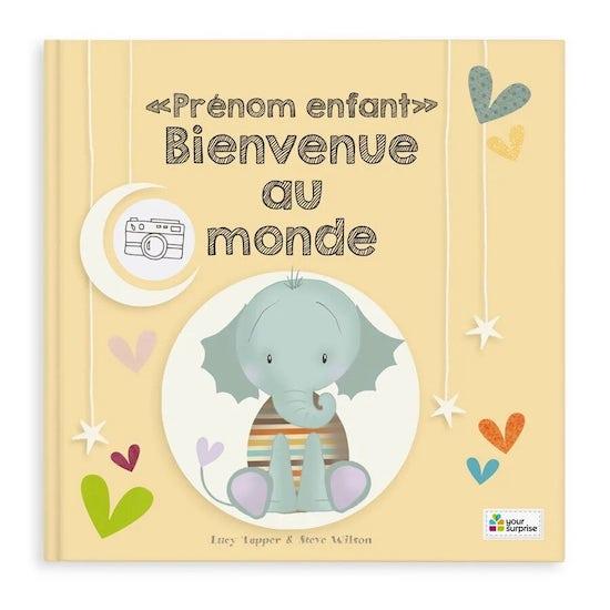 Livre bébé personnalisé Bienvenue au monde