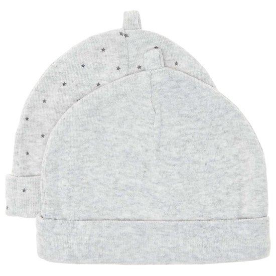 Pour composer ton trousseau de naissance parfait craque pour ce lot de 2 bonnets coton bio 'éco-conception' de Kiabi