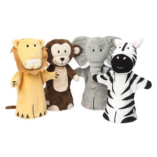 Jolies marionnettes à mains pour enfant thème animaux de la jungle