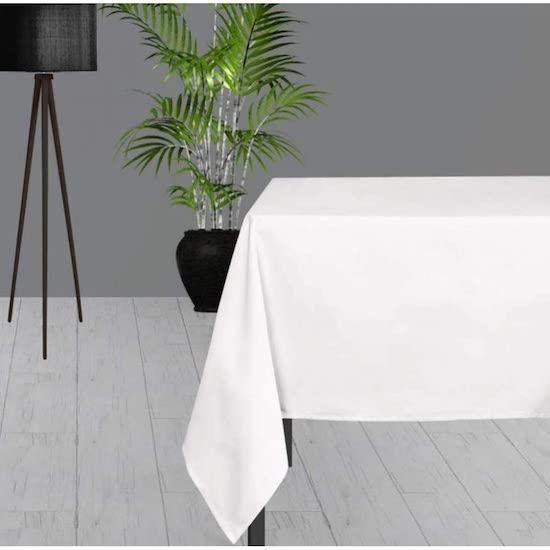 Nappe antitaches rectangle blanche