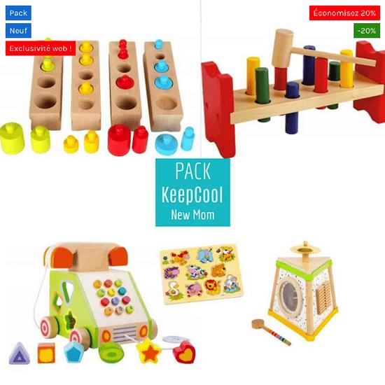 Pack composé des jouets en bois Petits Chats