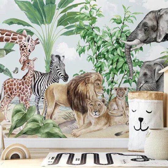 Papier peint pour chambre bébé jungle
