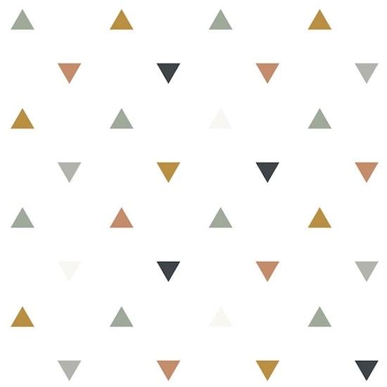 Papier peint motif triangles bleus gris beige