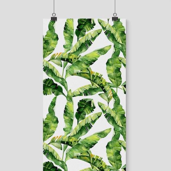 Mur végétale pour décorer une chambre bébé jungle - Créatrice ETSY : MoonsAndFlowers