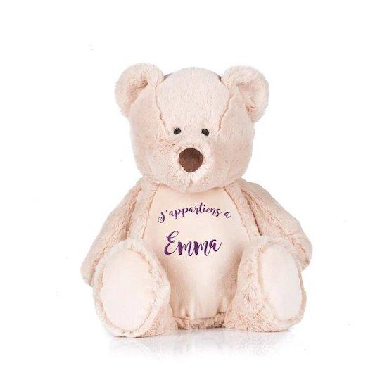 Doudou brodé à personnaliser à offrir comme cadeau de Noël pour bébé - Créatrice ETSY : LaFabrik34