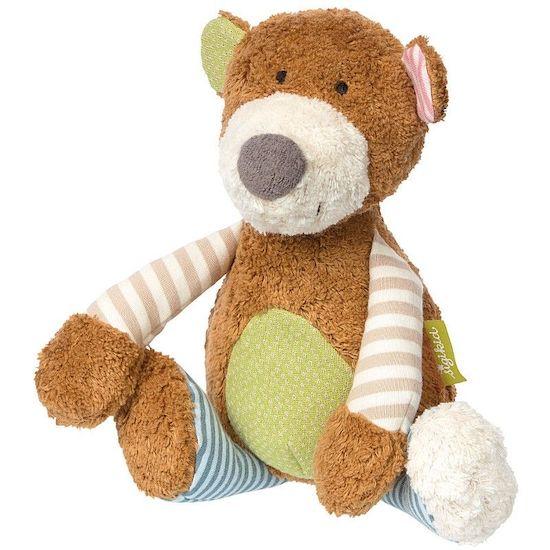 Peluche ours brun en coton bio de la marque Sigikid idéal pour apporter du réconfort à bébé