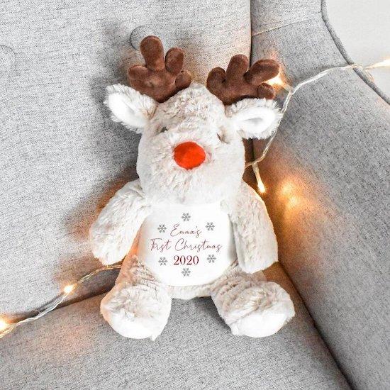 Mini renne RUDOLF premier Noël bébé - Créatrice ETSY : BHWDesigns