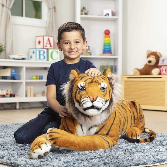 Peluche tigre enfant
