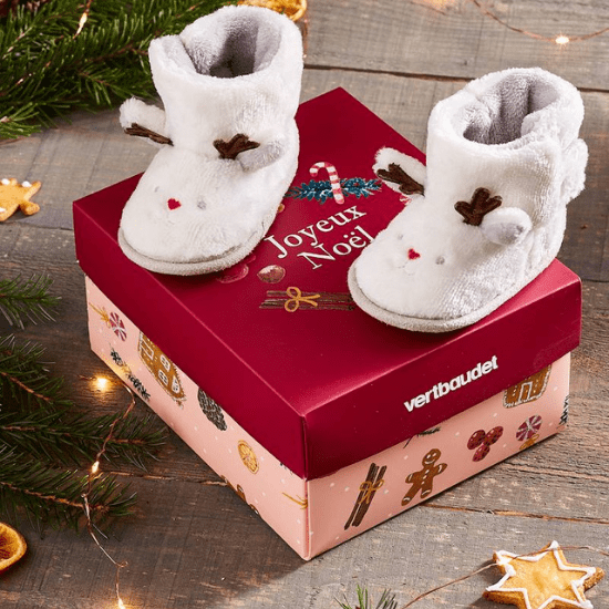 Coffret de Noël chaussons pour bébé Vertbaudet