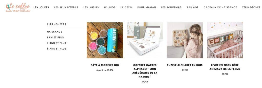 Présentation de la boutique Le Coffre aux Merveilles, un concept store qui propose des merveilles écoresponsables et éthiques pour enfants