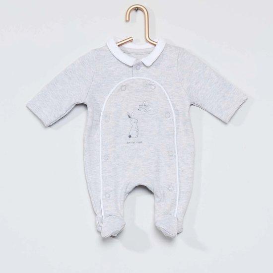 Pyjama en coton bio idéal pour maintenir bébé bien au chaud à la maternité